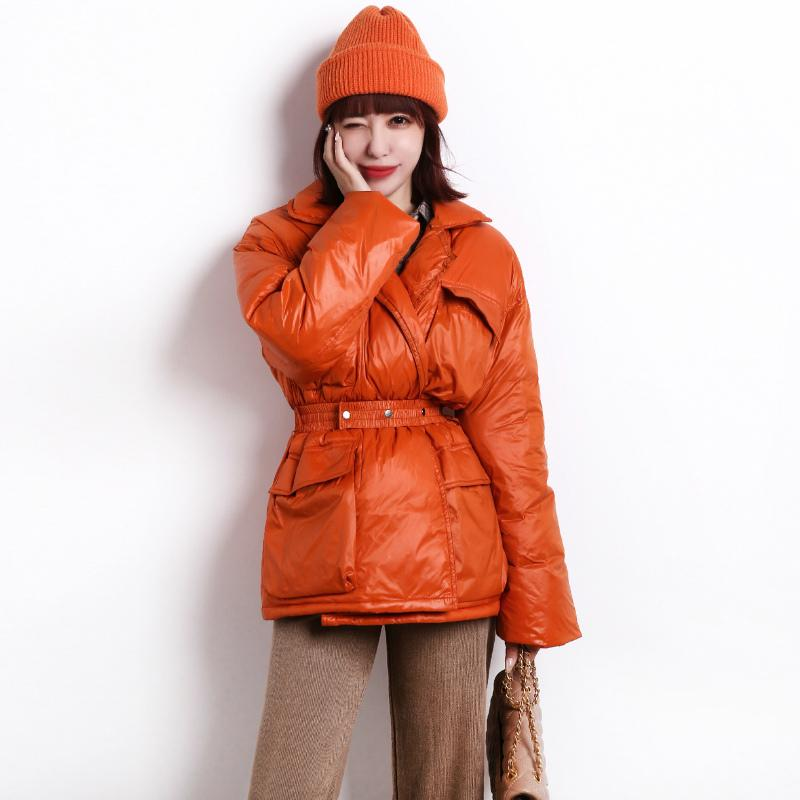Janveny 90% White Duck Down Jacket Women Winter Parkas For Female Feather Puffer Coats Slim Long Thicken Snow Outwear Streetwear