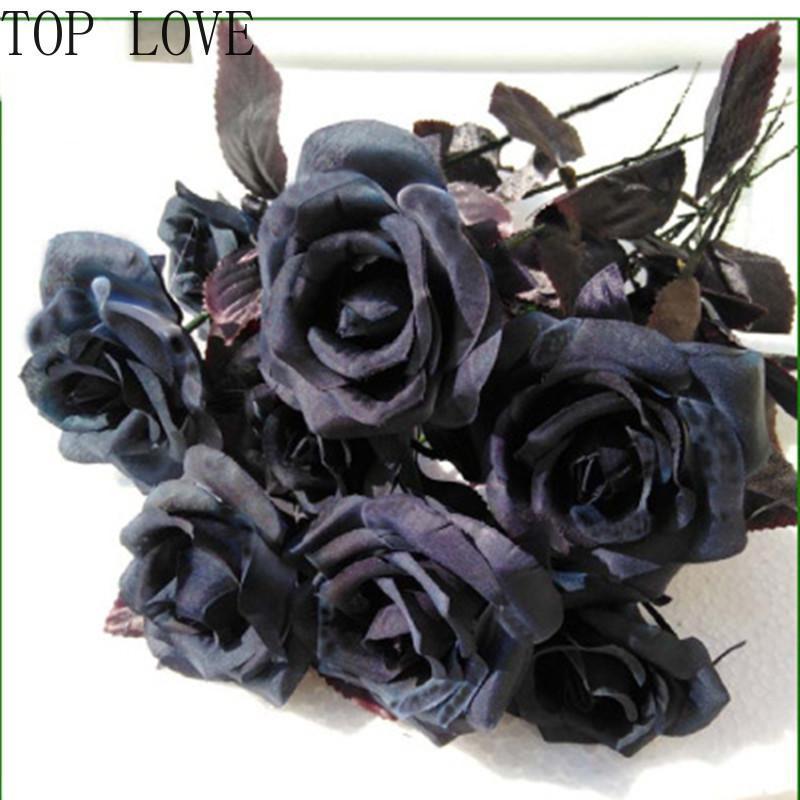 Искусственный цветок диаметр 9см георгин черный свадьба украшения дома DIY свадьба цветок настенные материалы фото реквизиты оптом
