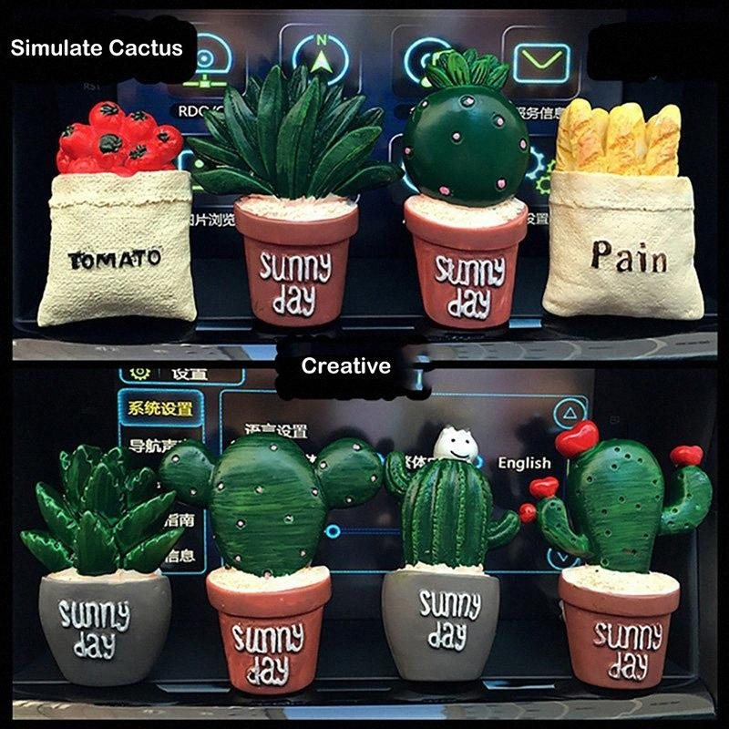 Car-styling Cactus Air Freshener Cartoon Hero Flower Solid Perfume Car Vent Outlet Clip Air Outlet Perfume Car Conditioner PvjC#
