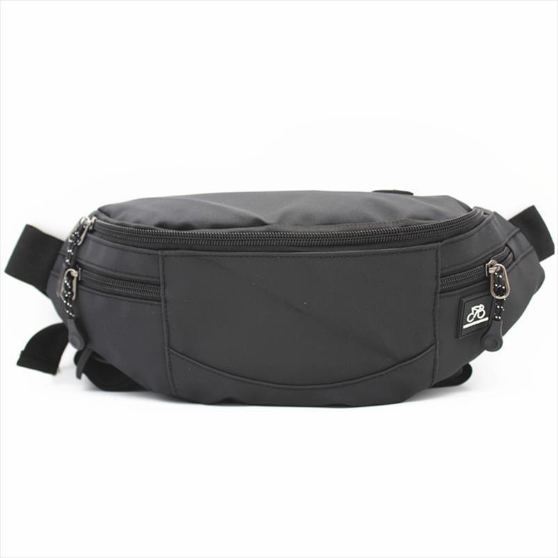 Waist Bag Pack For Man Casual Functional Money Phone Belt Bag Black Waterproof Nylon Women For Belt Large Capacity Hip