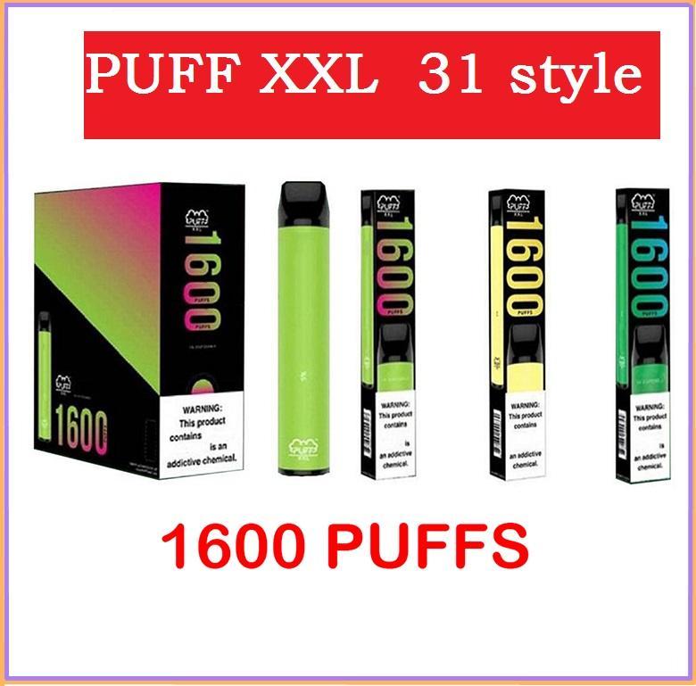 Puff xxl vape vape pluma 31 estilo 1600 hojalto PROLADA PROLADA PODS VAPE CARTUCHO Puff Barras E Cigarrillo vs Barra de aire
