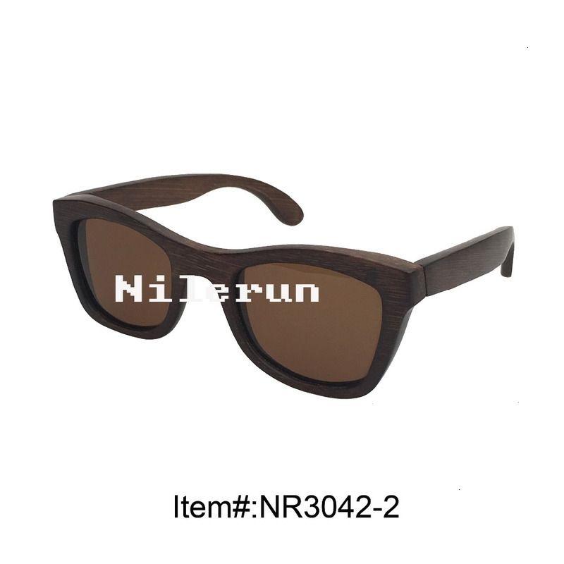 unissex homens mulheres marrom óculos de sol de bambu