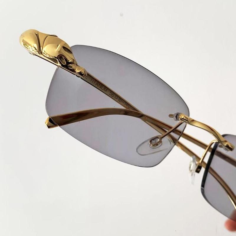 Очистить очки без огранки Серый Картер Мода Очки Простые Солнцезащитные очки Глаз Пантера Тени Металлические фотохромные Очки Sun Men CipJM