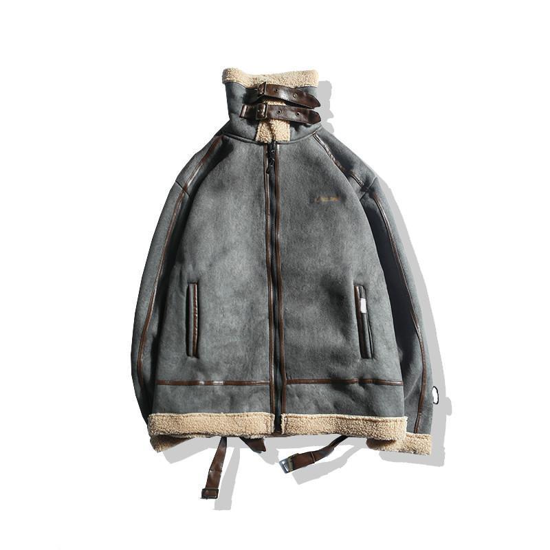 Fashion Lamb Wool Coat Female 2021 Winter Jackets Women New Loose BF Bike Outerwear Short Thick Padded Jacket Lamb Suit G664