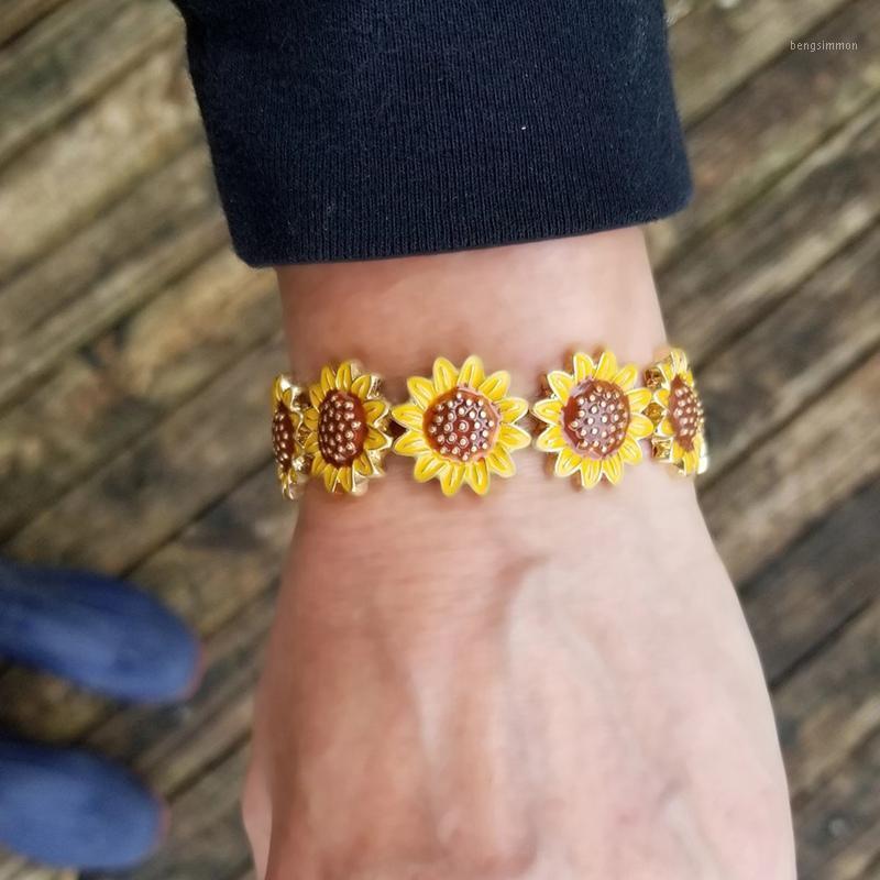 Charme Pulseiras Sun Flor Daisy para Mulheres Presente Handmade Jewelry1