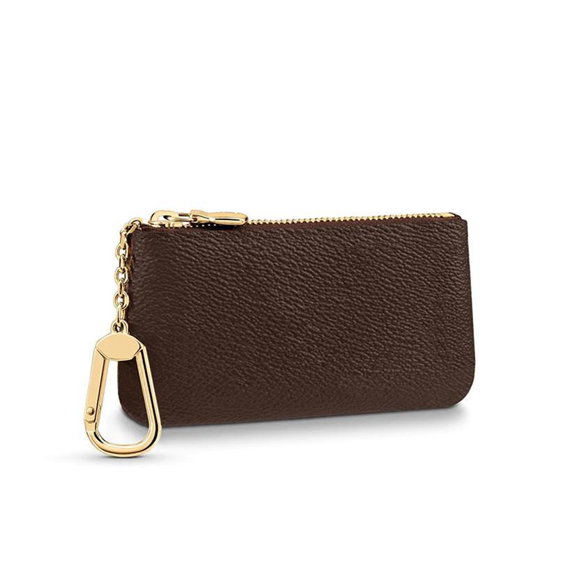 KEY Card M62650 With CLES Luxury Mens Mini Designer Fashion Wallet Key Coin Credit Bag Holder Ring Purse POCHETTE Dust POUCH Mpduh