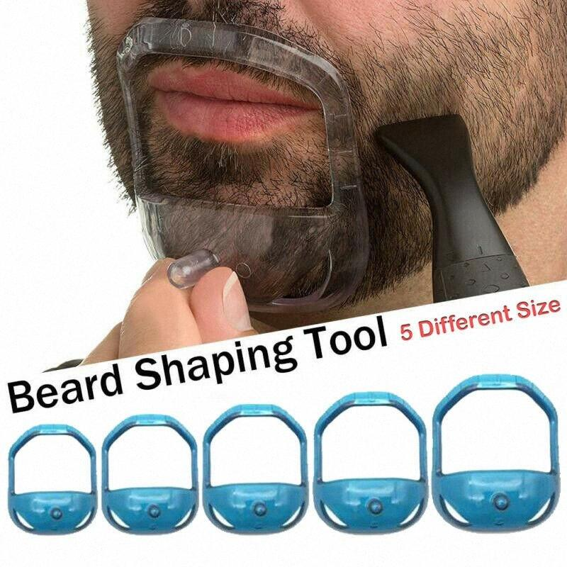 Guía para hombre de la herramienta de la plantilla del bigote barba de la perilla de afeitar de la talladora del estilo # lVcj