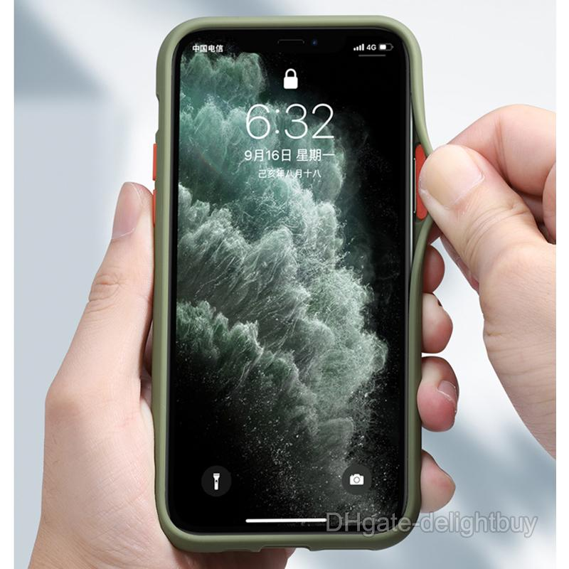 Для iPhone 12 11 Pro Max XS XR Mini Clear Hard Case Shocipured Proderucent Matte Concreme для iPhone 7 8 Plus Cover Armor