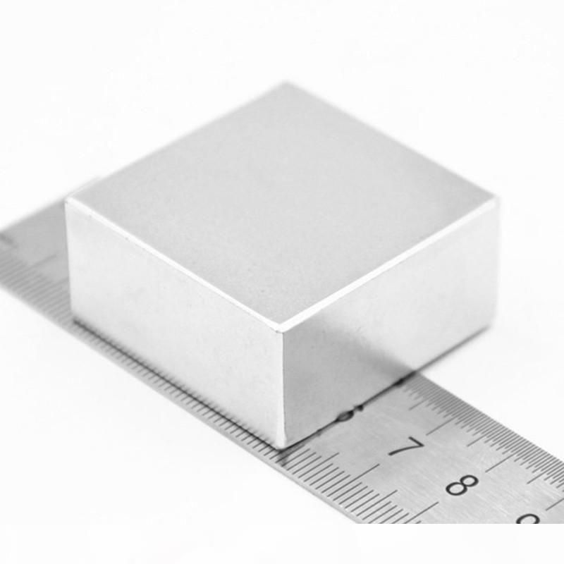 1PCS Block 40x40x20mm super leistungsfähige starke seltene Erde-Block NdFeB Magnet-Neodym N52 Magnete