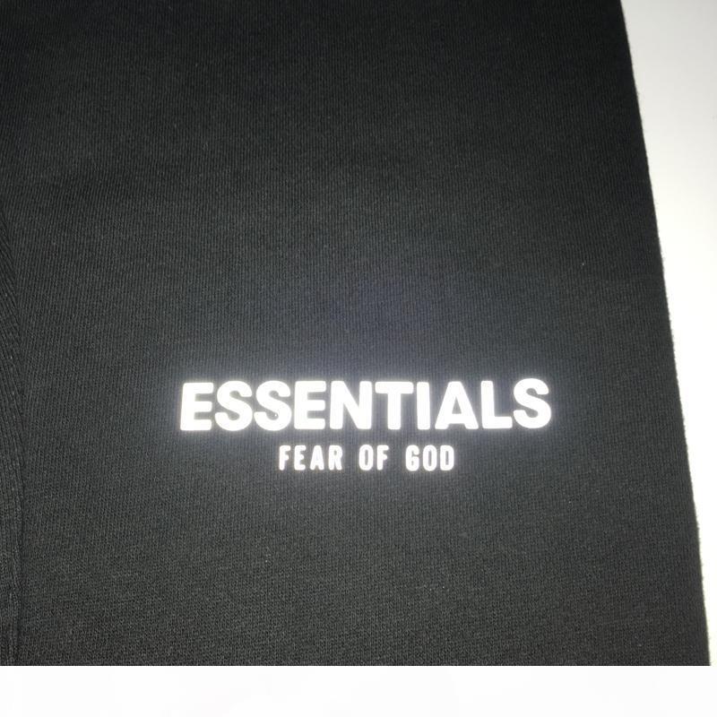 19SS Tanrı'nın Korkusu Sis Essentials Yansıtıcı Şort Vintage Sokak Elastik Bel Açık Kısa Pantolon Spor Gevşek Rahat Şort