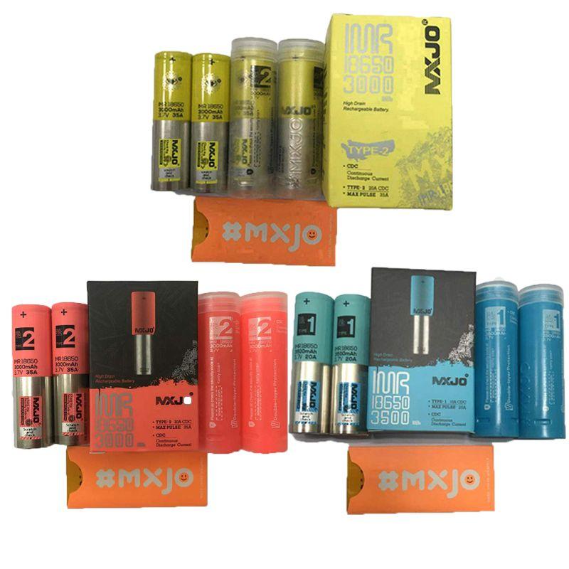 Auténtico MXJO Blackcell IMR 18650 Tipo de batería 1 2 Rojo amarillo 3000mAh 3500mAh 20A 35A 3.7V Batería de litio recargable de alto drenaje