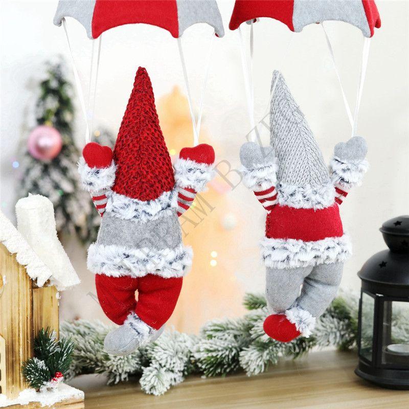 Árbol de Navidad sin rostro de la muñeca del gnomo de Santa de Navidad colgantes regalos del ornamento de la muñeca de la decoración para el hogar gota colgante de partido de los ornamentos Suministros EEC2724