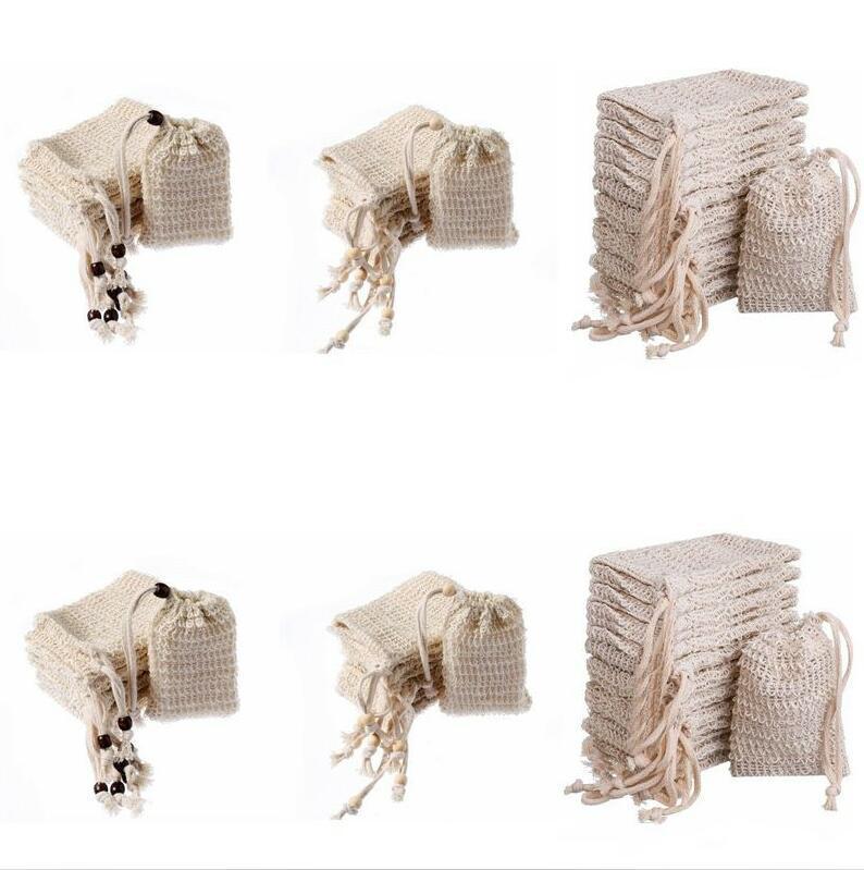 Bolhas de sabão Saco de algodão Linho Saver Sack bolsa de armazenamento com cordão Bolsa Titular superfície de limpeza cordão Titular Bath Supplies NWC3231