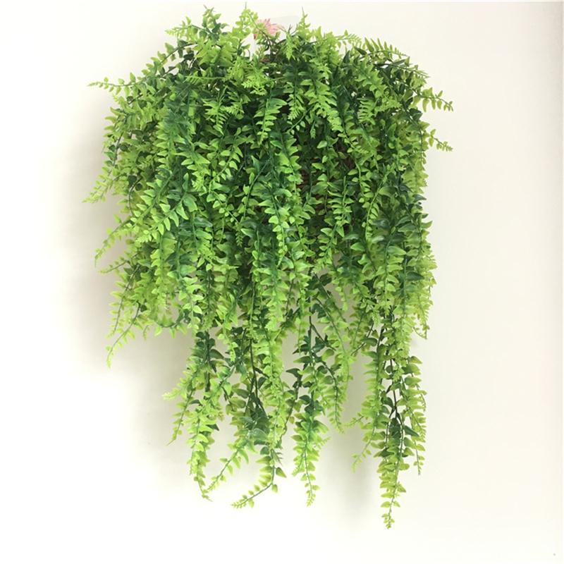 Künstliche Pflanzen Reben Farne Persische Rattan Gefälschte Kleidung Faux Boston Farn Wedding Girlande Wanddekor JK2101XB