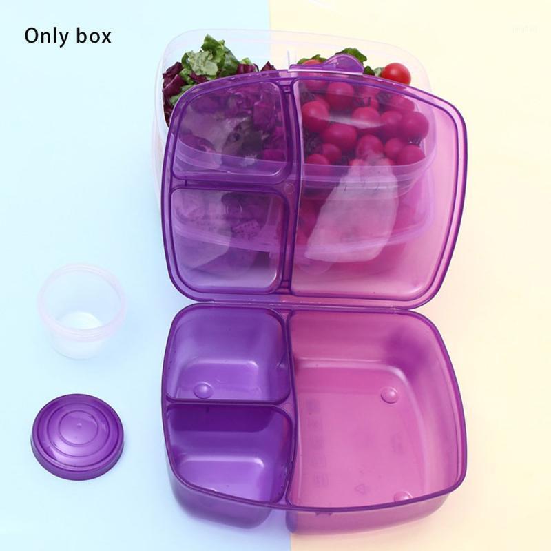 Caixa de armazenamento de fogões de arroz salada de frutas Bento almoço plástico retangular selado fácil de transportar portable1
