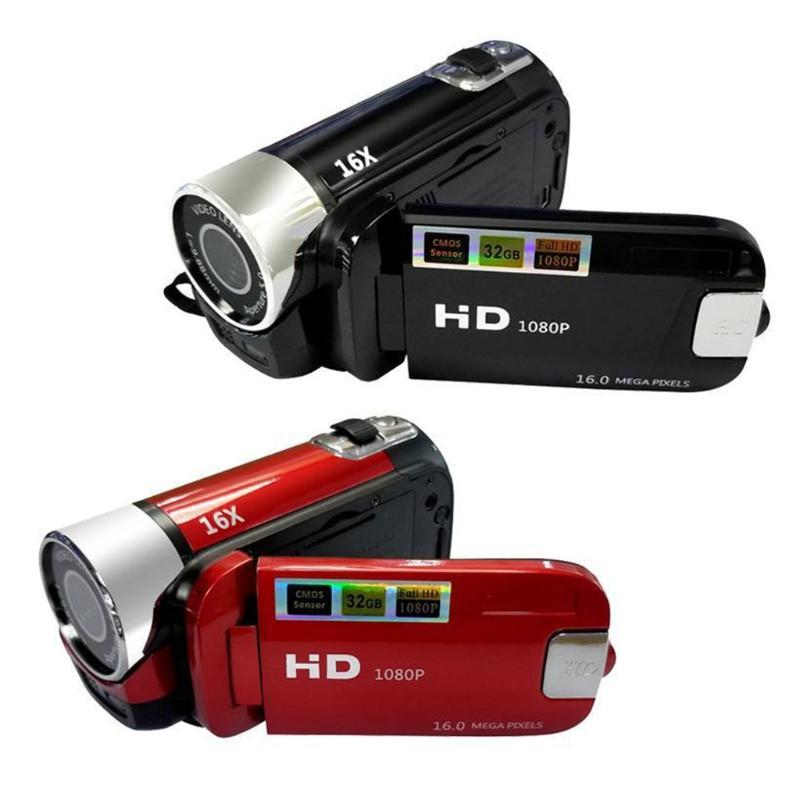 كاميرات الفيديو الولايات المتحدة / الاتحاد الأوروبي / المملكة المتحدة / الاتحاد الأفريقي التوصيل 1080P VLOG كاميرا 16 مليون بكسل DV كاميرا رقمية 16x تكبير فيديو رقمي مدمج في ميكروفون
