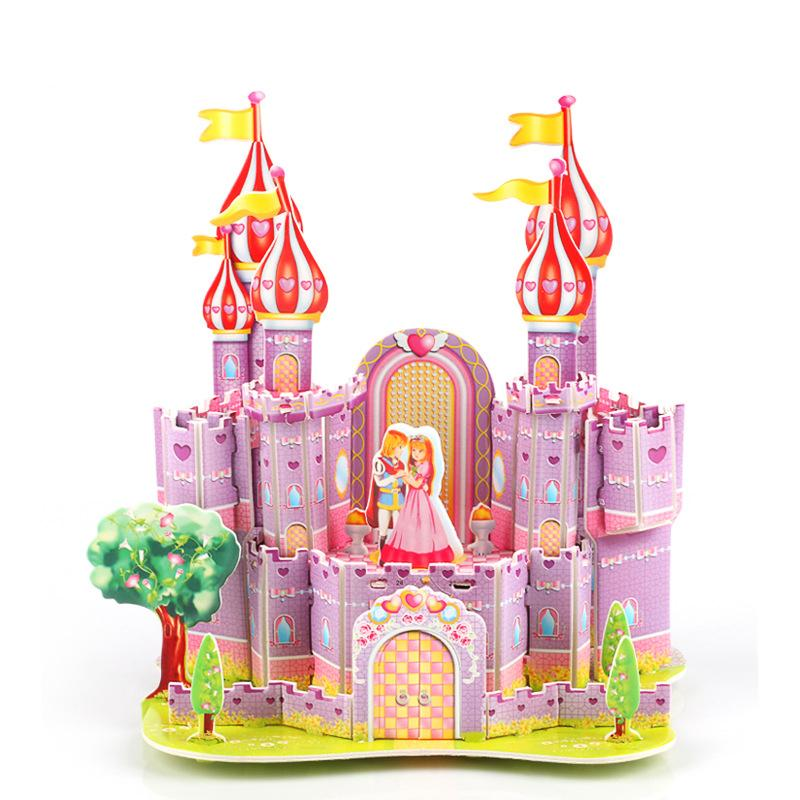 3D Jigsaw Puzzle DIY Building Castle Toy for Kids Early Educational Toy