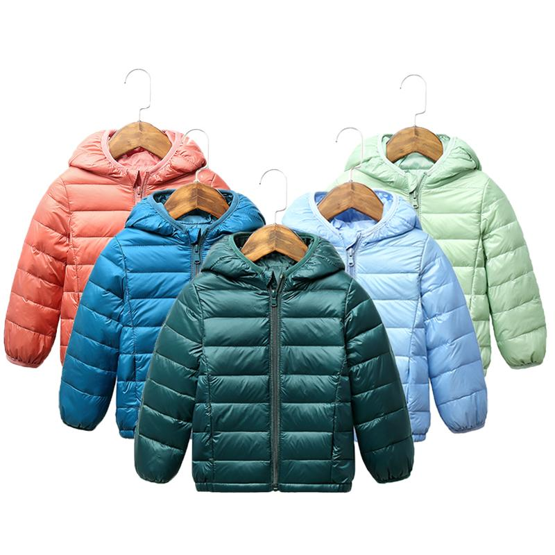 2020 bambini giacca invernale luce ultra basso neonate Giubbotteria Bambino Outerwear ragazzi cappotto tuta Abbigliamento Bambini 2-8 y