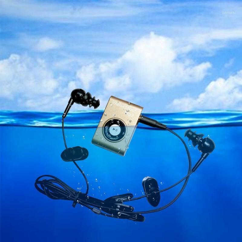 Summer Natación clip Metal impermeable Mp3 Music Player auriculares Sport Diving IPX8 con radio FM para nadar MP3 con Auricular1