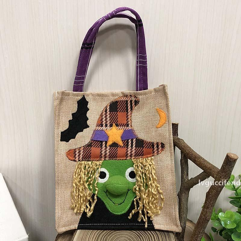 Pumpkin Christmas Halloween Tote Decorations Ghost Non-woven Festival Mall Hotel Cookies Apple Gift Bags 19*16cm
