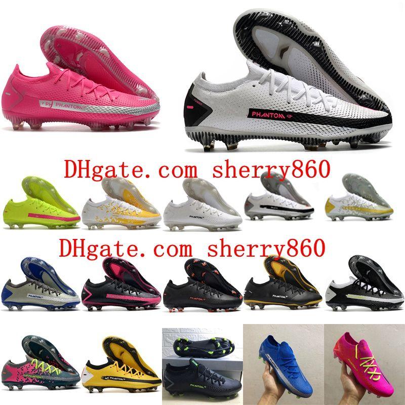 2020 Высочайшее качество Мужские футбольные бутки Phantom GT Elite Tech Craft FG Футбольные ботинки Футбольные ботинки Chuteiras Scarpe Da Calcio
