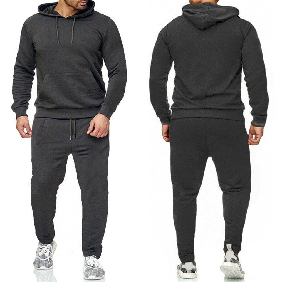 Hommes Erkek Eşofman Mektubu Baskı Polar Sweatsuits Moda Jogger Fit Suits Pollover Kapşonlu Hoodies Rahat Uzun Pantolon Kıyafetler Zrtz2JT