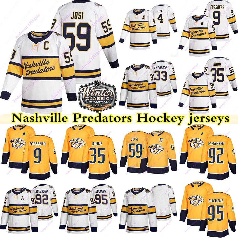 Nashville Predators Jerseys 9 Filip Forsberg 59 Roman Josi 33 Viktor Arvidsson 35 Pekka Rinne 4 Ryan Ellis 95 Matt Duchene Hóquei Jersey