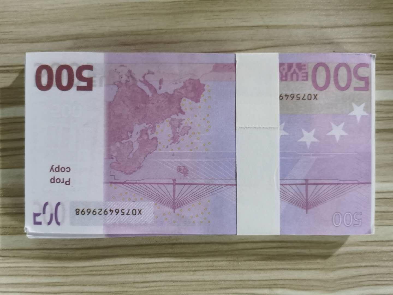 PROP 500 BANKNOTE FILM TOYS PARTIS EUROS EUROS NIGHCLUB Copie Atmosphère Jeu Money Money Play Fake 100pcs / Pack Pekbi