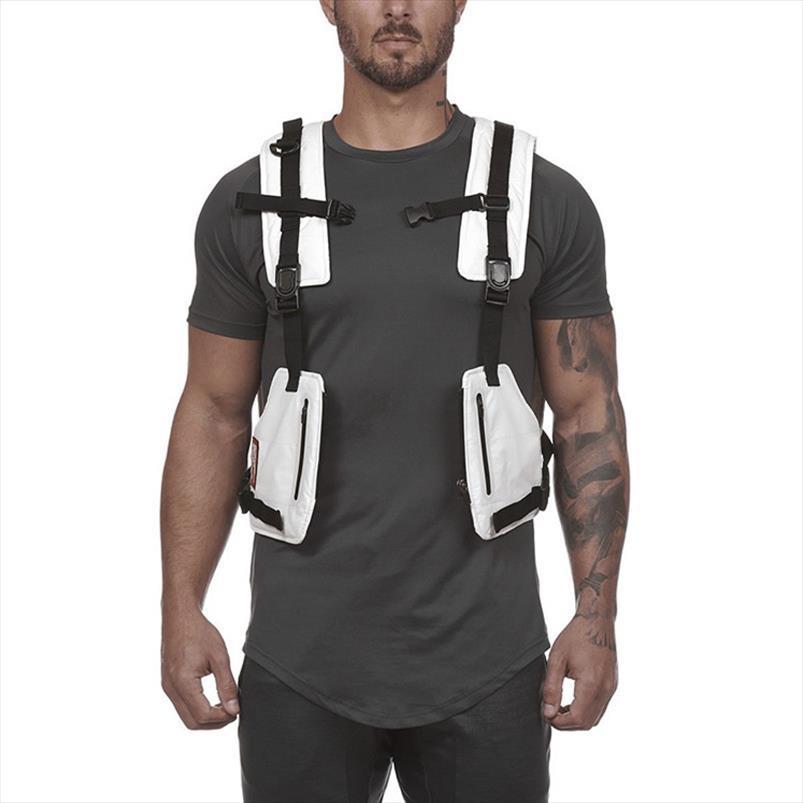 Bolsas de pecho Chaleco táctico masculino Chaleco reflexivo altamente visible 2019 Nuevos paquetes de cintura para hombres Multi Pocket Security Anti Robo de bolsillo