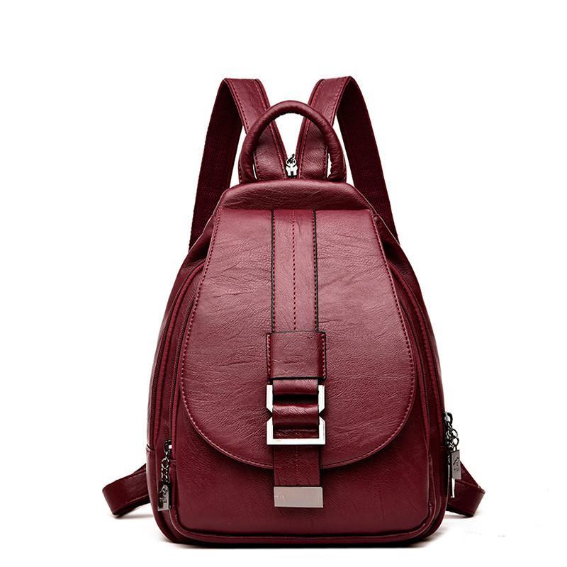 HBWJ Black Women PU Leather Backpacks Vintage Fashion Bag Female Ladies Large Travel Bagpack Mochilas School Bags for Girls Q1113