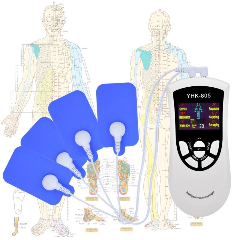 6 Modi Elektro Tens-Therapie-Gerät zur Schmerzlinderung Pulse Massage EMS Muskelstimulation Intelligent Voice-electroestimulador