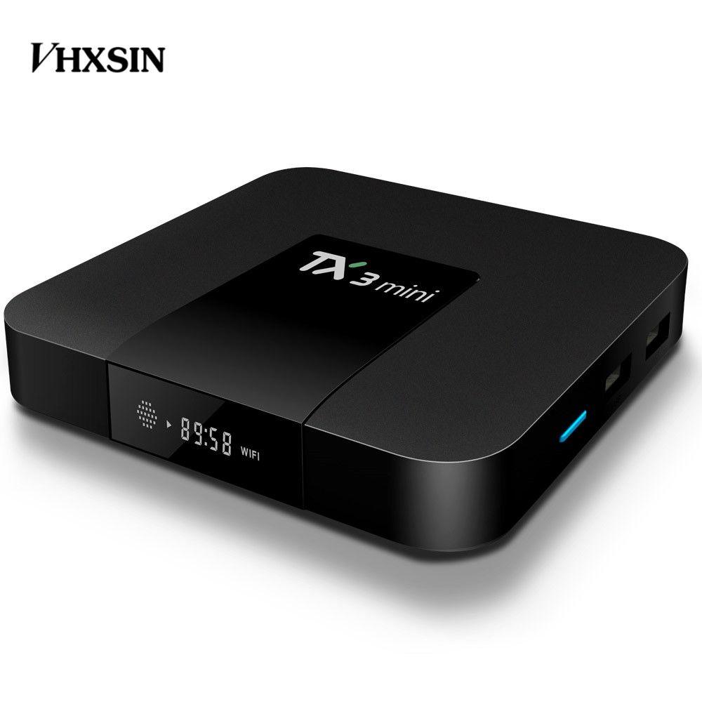 TX3 مصغرة الروبوت 8.1 صندوق التلفزيون Amlogic S905W رباعية النواة 1GB / 2GB RAM 16GB 2.4G WIFI 4K Media Google Play