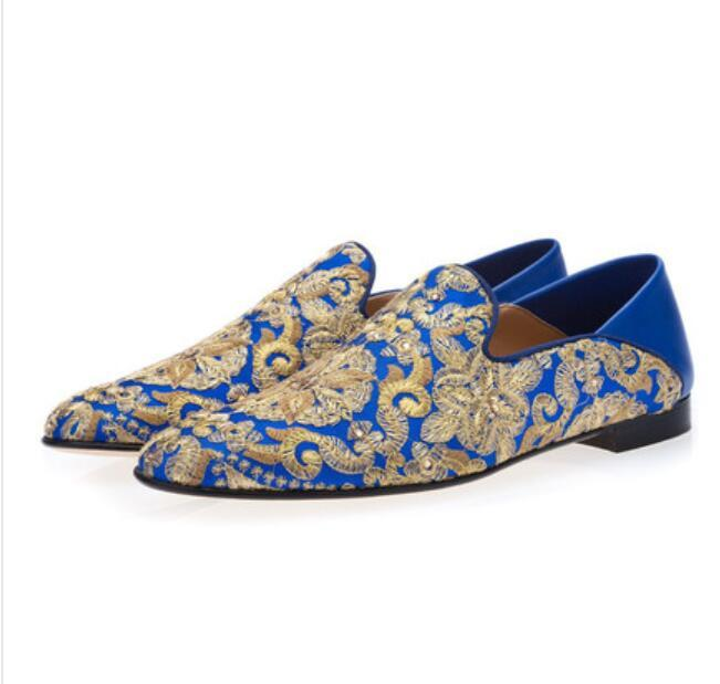 Heißer Verkaufs-gestickte Kleid-Schuhe heiße Loafers Männer Smoking Faulenzer Männliche Hochzeit und Partei-Kleid-Schuh-Größe 38-46 freies Verschiffen