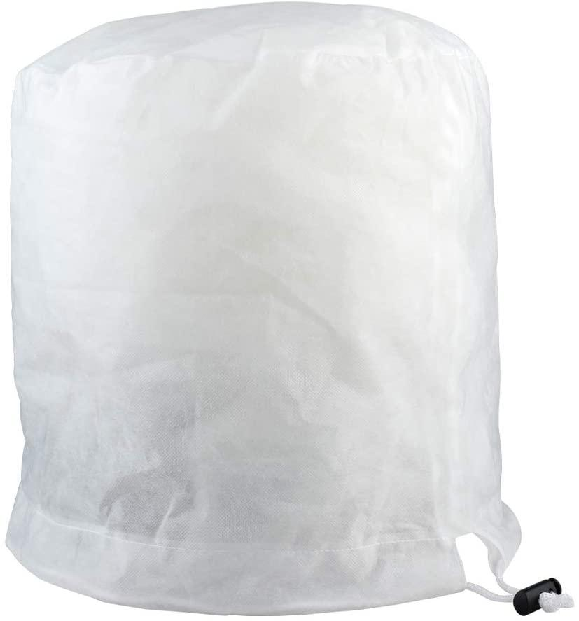 Winter Pflanze Frost-Schutz-Abdeckung, 3D Rund Gartenpflanze Frostschutz- Warming Tasche Fleece-Jacke mit Kordelzug für Blumen Sträucher Bäume