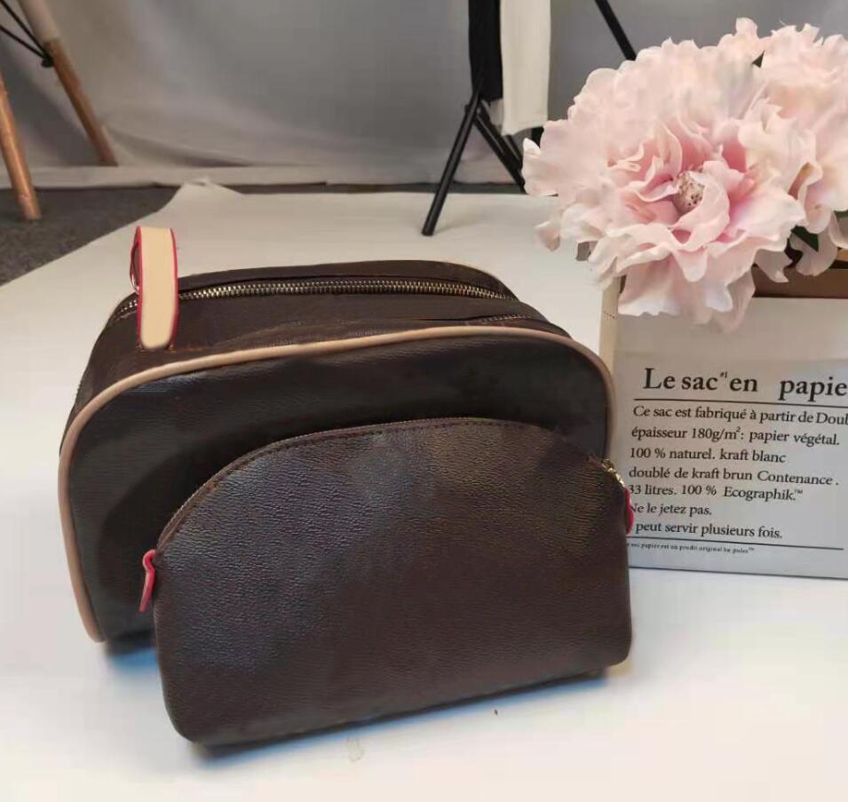 2-teile Hohe Qualität Mode Frauen Wash Tasche Große Kapazität Kosmetische Taschen Makeup Kulturbeutel Tasche Männer Reise WC-Taschen