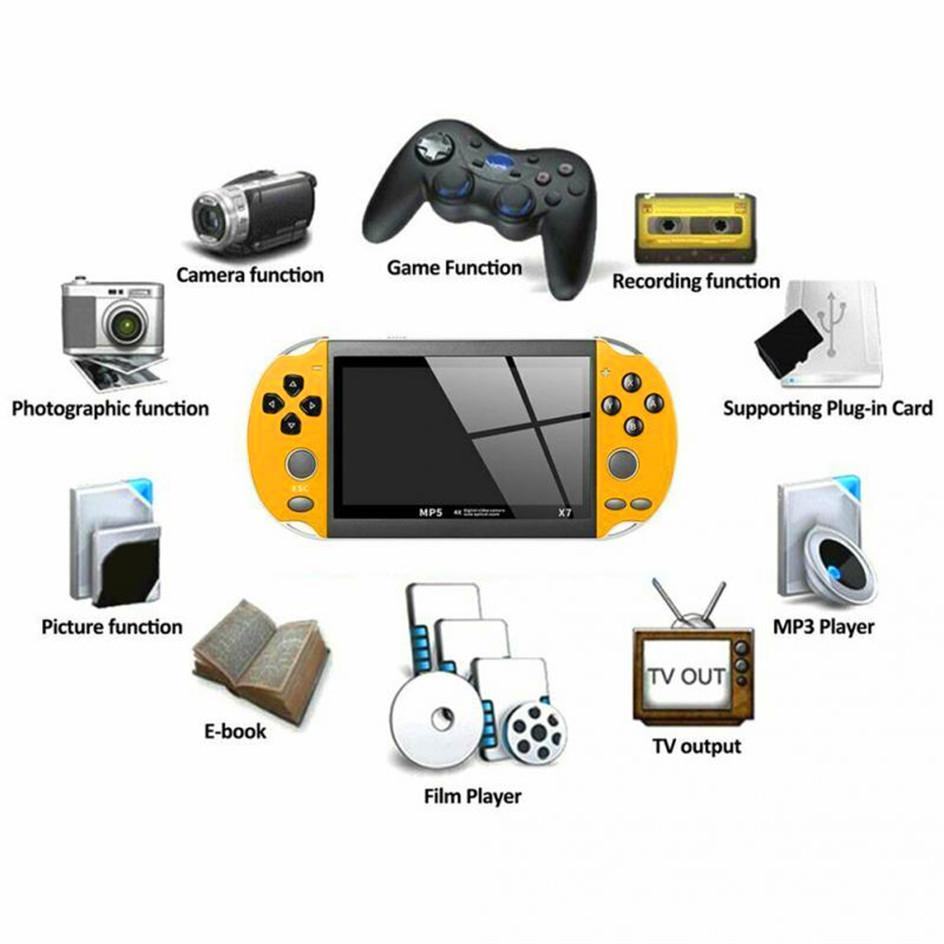 4.3 inch for GBA Handheld Game Console X7 Video Game Player 300 Free Retro Games LCD Display Game Player for Children