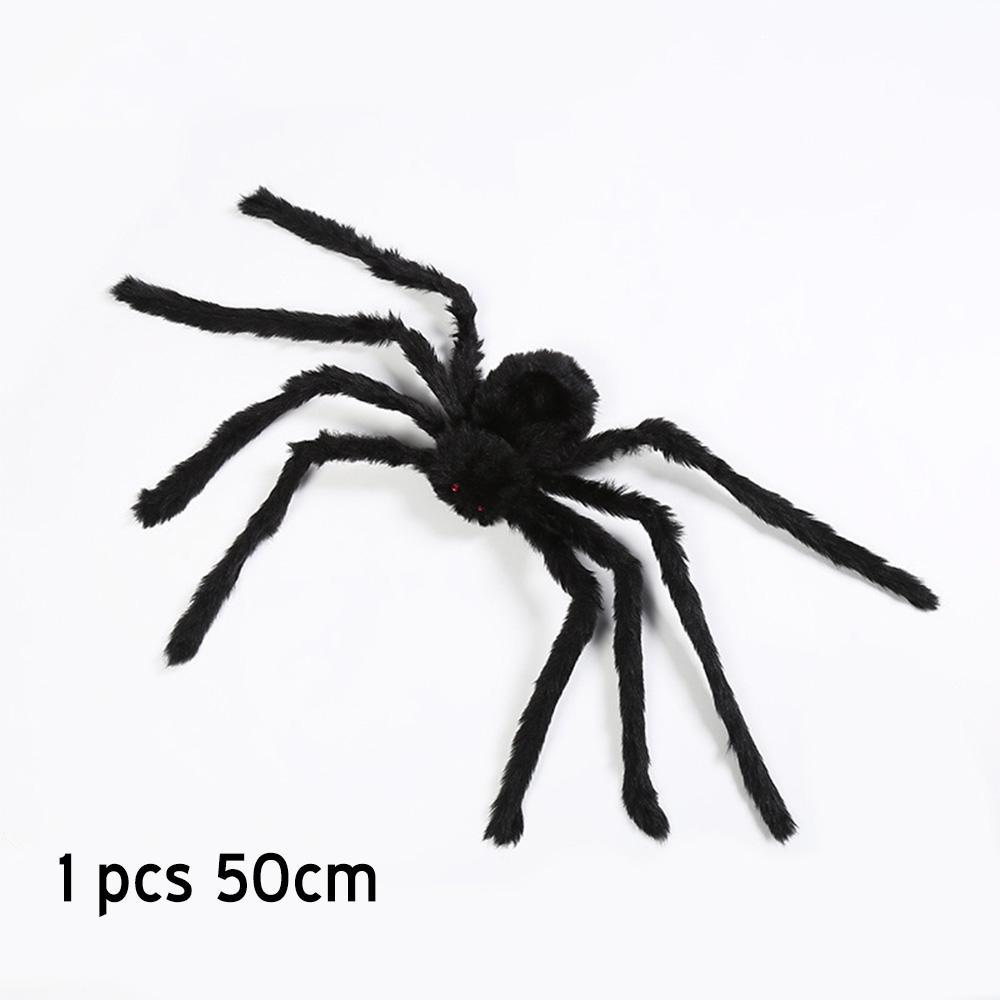 Amawill 1pcs 30 50 60cm Halloween Black Multicolour Big Plush Spiders Kids Toy Plush Fun Style For Party Halloween Decoration wmtEvg xhlove