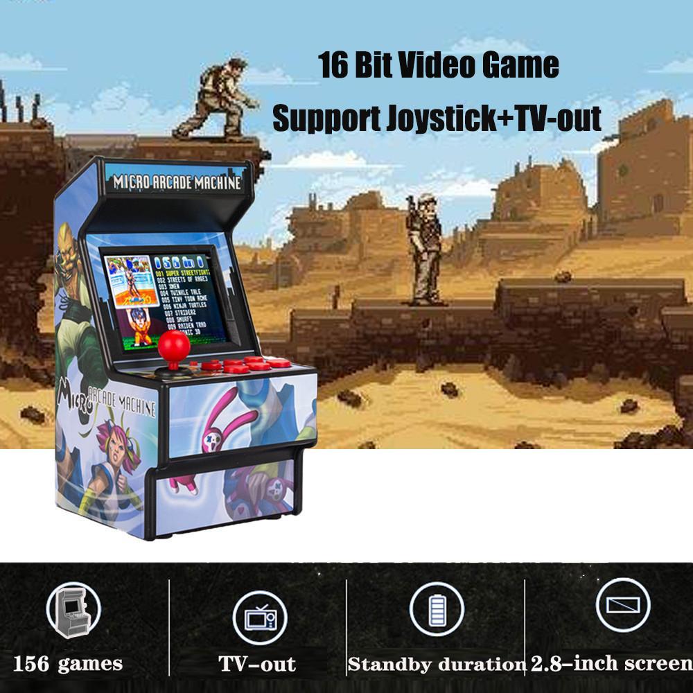 """Gamepad Taşınabilir Retro Mini Arcade El Oyun Konsolu Makinesi Oyuncu 16 Bit Dahili 156 Klasik TV Çıkışı ile 2.8 """"Ekran LJ201204"""