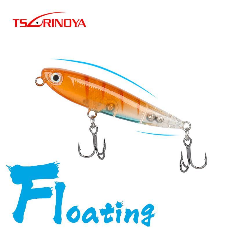 Tsurinoya 60 ملليمتر 3.1 جرام 60f 3 قطع العائمة قلم إغراء DW64 جودة الكلب المشي إغراء مجموعة سطح الماء wobblers fory trout baits الساخن 201104