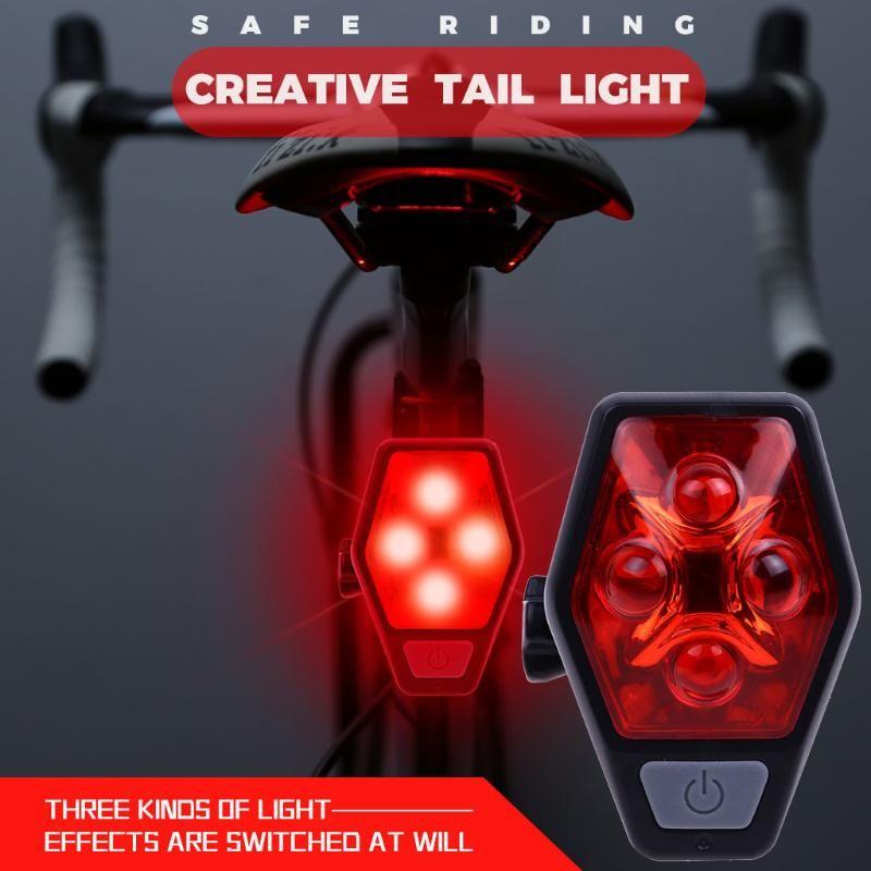 자전거 후면 테일 라이트 방수 승마 테일 LightLED4Modes 배터리 자전거 안전 승마 후면 조명 액세서리