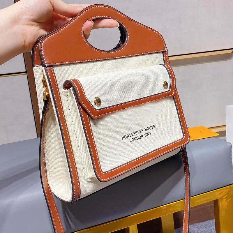 Classic Messenger Bag Canvas Handbag Purse Jute Patchwork Crossbody Bucket Bag Women Tote Bags Genuine Leather Handle Clutch Shoulder Bags