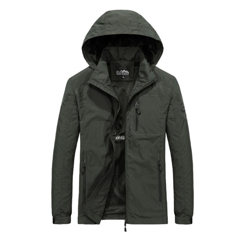 Vestes pour hommes tactiques m ~ 6xl printemps automne hommes occasionnel hoodie veste hommes étanche vêtements coupe-vent manteau mâle