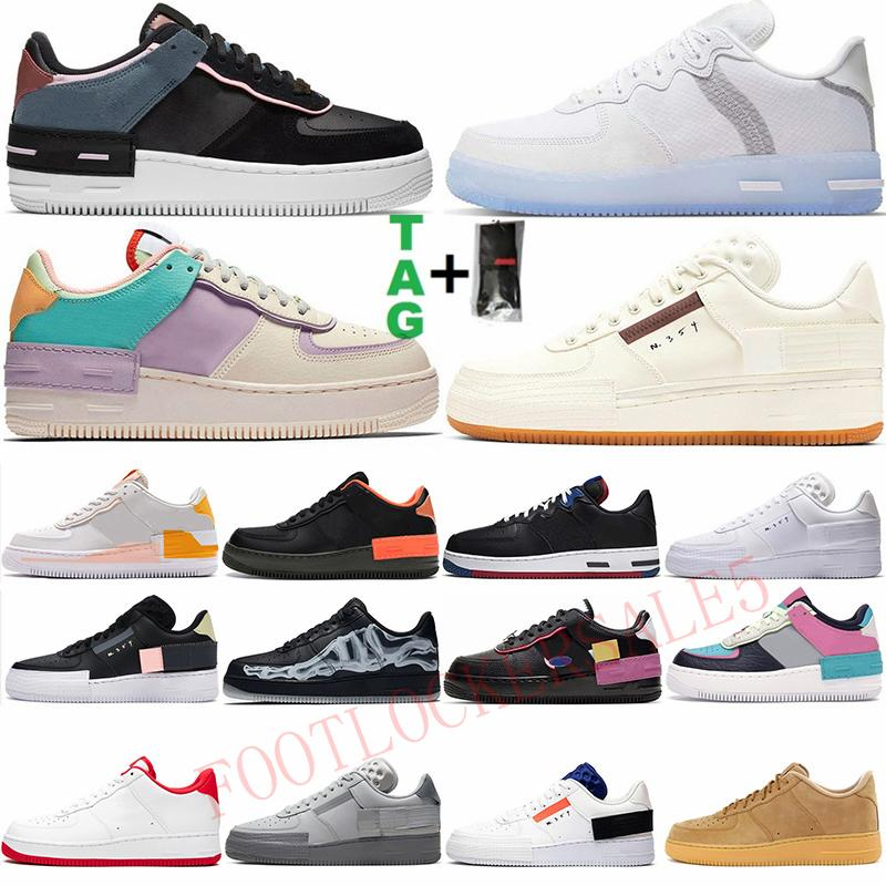 Top Quality Off MCA 2020 Tipo N354 Skate Skate Shoes Shadow Mens Womens Tutto Black Skeleton Outdoors N.354 Scarpe da ginnastica Sneakers Silk Sport