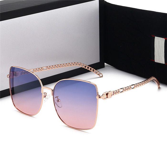 Hotsale Lüks Qualtiy Yeni Moda Bayan Güneş Gözlüğü Vintage Boy Güneş Gözlükleri Tasarımcı Açık Yıldız Tarzı Goggles Hediye Kutusu ile