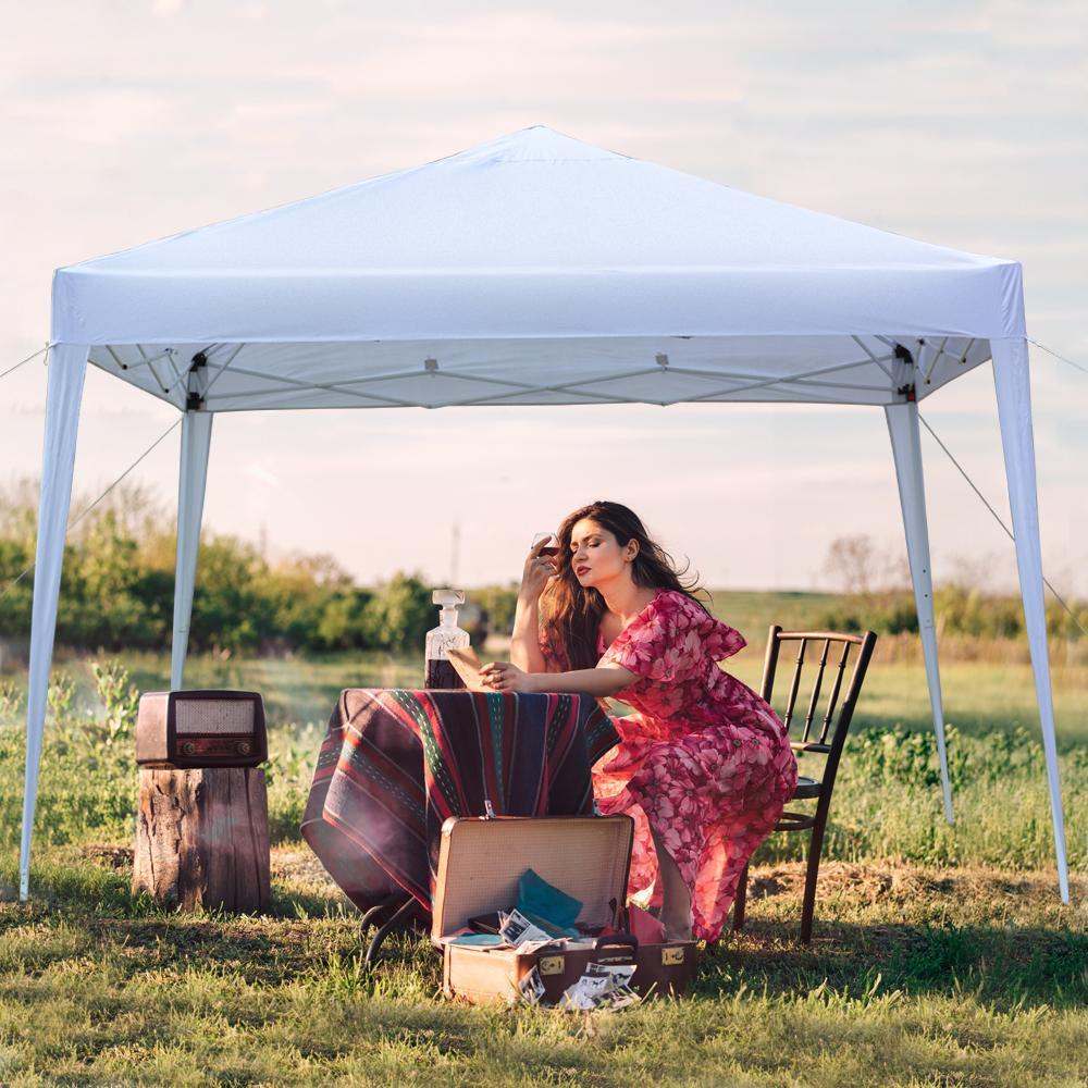 10x10ft Tenda de festa de casamento ao ar livre 3 x 3m resistente à prova d 'água à prova d' água configuração direita ângulo dobrável pátio sol abrigo de sol marquee tenda de acampamento branco
