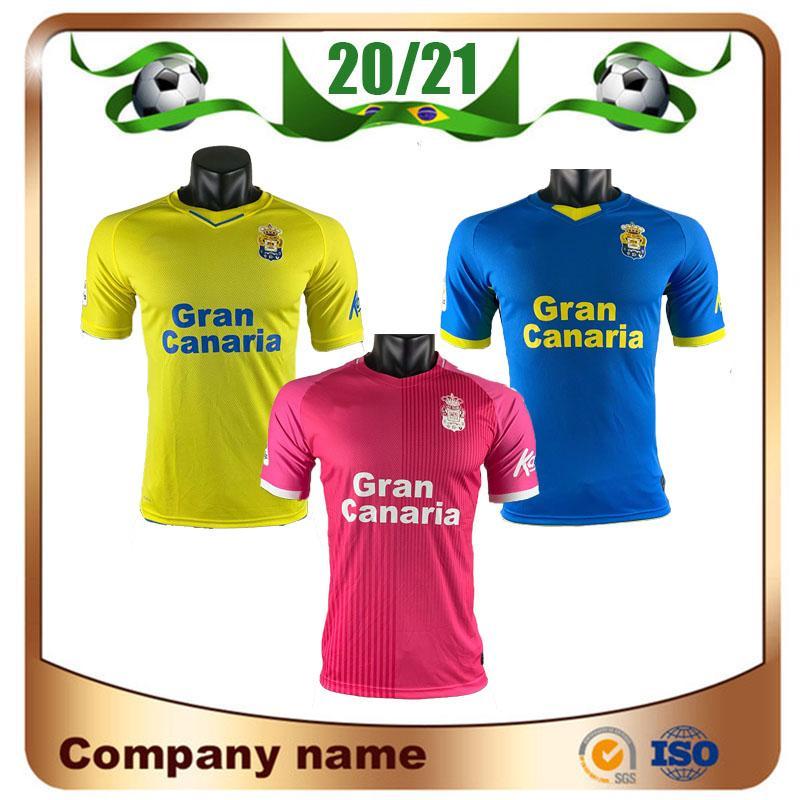 20/21 Mailleots De Foot UD Las Palmas Soccer Jerseys 2021 Home Rober á. LEMOS ARAUJO RODRYGO قصيرة الأكمام قميص كرة القدم