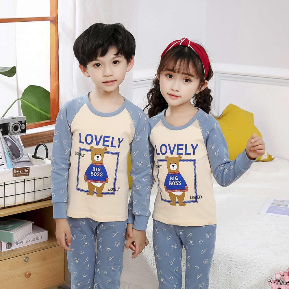 Детская школьная ткань брюки среднего чистого тонкого нижнего белья Набор осень зима хлопок свитер мальчиков и девочек 31P5