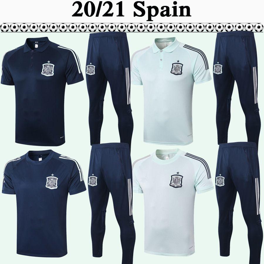 2020 ISCO Diego Costa A. iniesta Футбол для футболки Мужская Поло костюм Испания Национальная команда Asensio Sapphire светло-голубой футбол рубашка с коротким рукавом