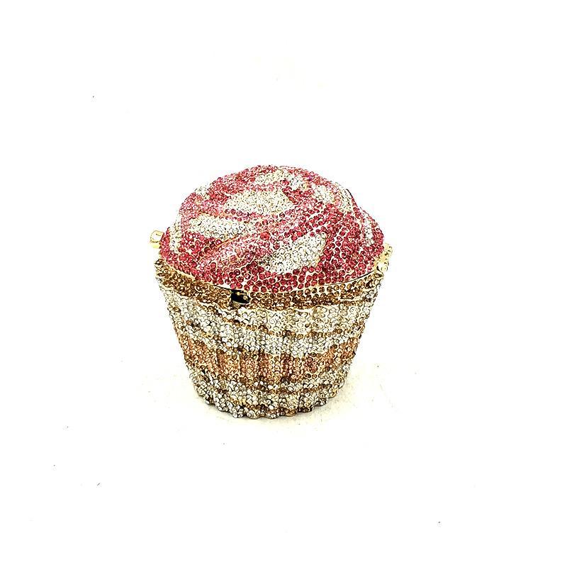 Elegante Damen-Accessoires schöne Diamanten Luxus-Kupplungen bunter kleine Kuchen Kristall Braut Hochzeit Partei Geldbörsen Q1113