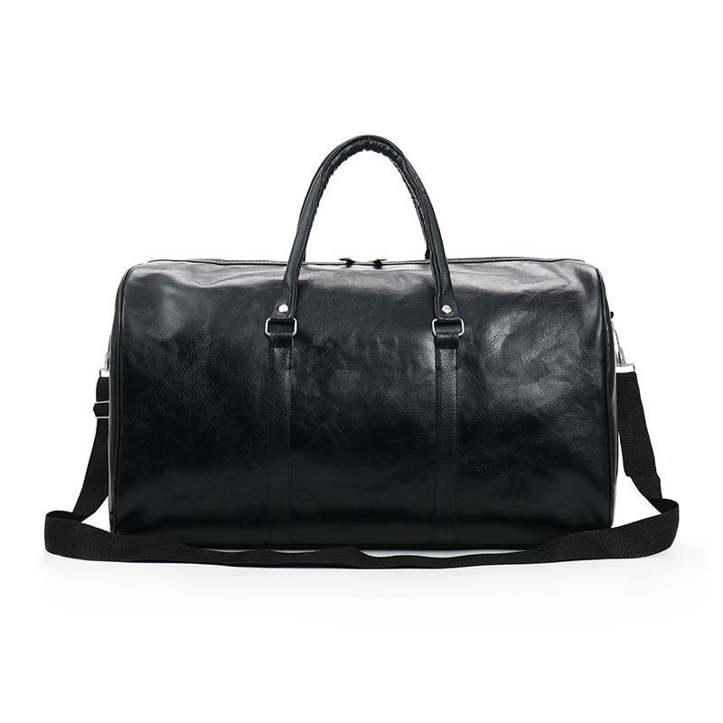 WOBAG 2020 Fashion Portable Dames Sac de voyage PU Grande capacité Sac à bagages à courte distance étanche Men Sports Sports Fitness Sac à main LJ201119